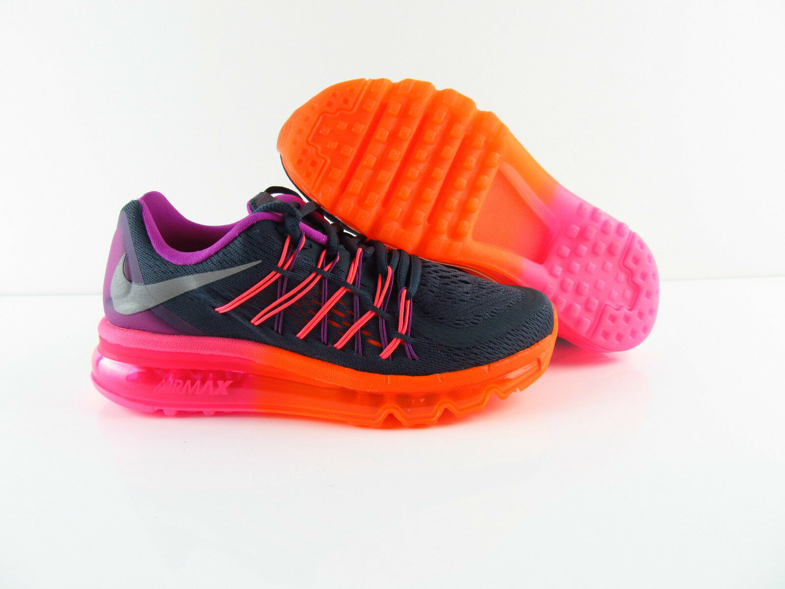 Nike Air Max 2015 Sneakers Running Orange Pink CHarcoal  New Eur 35.5