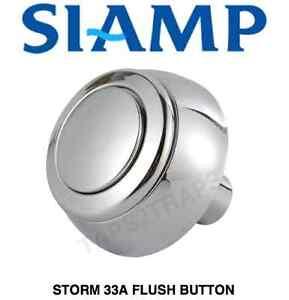 siamp temp te 33a toilette bouton poussoir chasse conomie d 39 eau effet chrom ebay. Black Bedroom Furniture Sets. Home Design Ideas