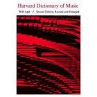 Harvard Dictionary of Music by Harvard University Press (Hardback, 1969)