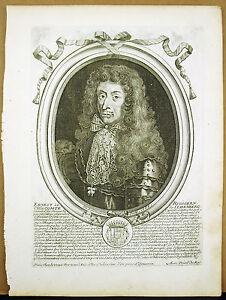 Comte Ernst-rüdiger Von Starhemberg Autriche Ostereich1684 De Larmessin Gravure Couleurs Harmonieuses