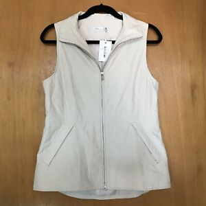 Peter-Millar-Womens-Vest-S-Golf-Zip-Quilted-Ava-Beige-Lightweight-Pockets-199