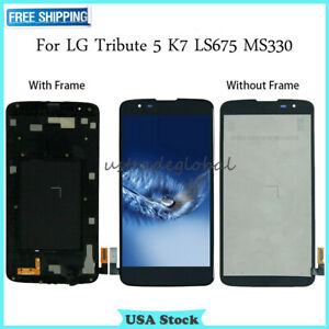 For-LG-Tribute-5-K7-LS675-MS330-LCD-Touch-Screen-Digitizer-Frame-Replacement