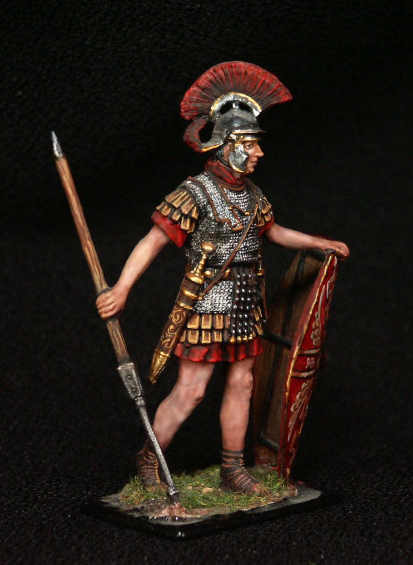 Ruso Plomo miniatures.roman legionary con Pilum (SPEAR)