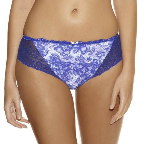 FANTASIE Julia String Culotte Motif Floral Bleu UK 8-10 XS NEUF