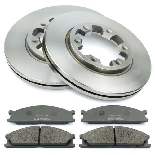 Bremsscheiben 277mm belüftet Bremsbeläge vorne für Nissan Pick Up D22 Terrano I