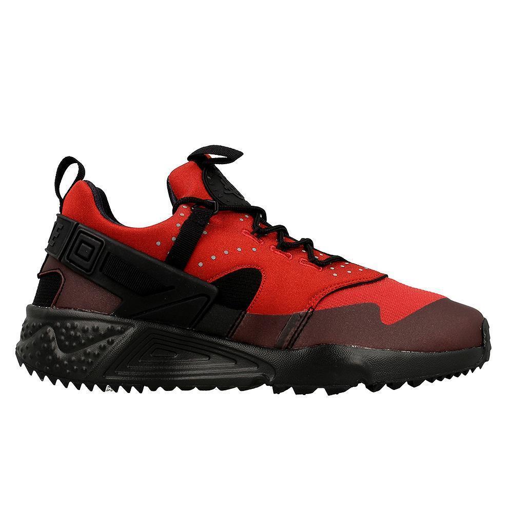 Mens NIKE AIR HUARACHE UTILITY Gym Red Trainers 806807 600