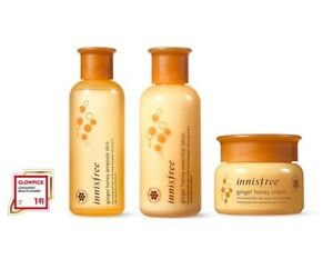 INNISFREE-Ginger-Honey-Ampoule-Skin-Essential-Lotion-Cream-SET