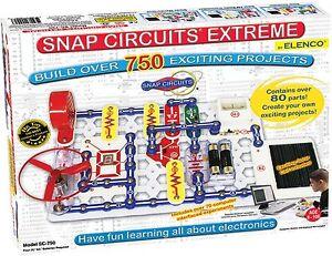 elenco snap circuits extreme sc 750 electronics kit authorizedimage is loading elenco snap circuits extreme sc 750 electronics kit