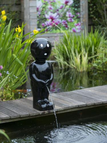 Gioco ACQUA Boy Nero Maneken Pis 45,5 cm con pompa e tubo flessibile