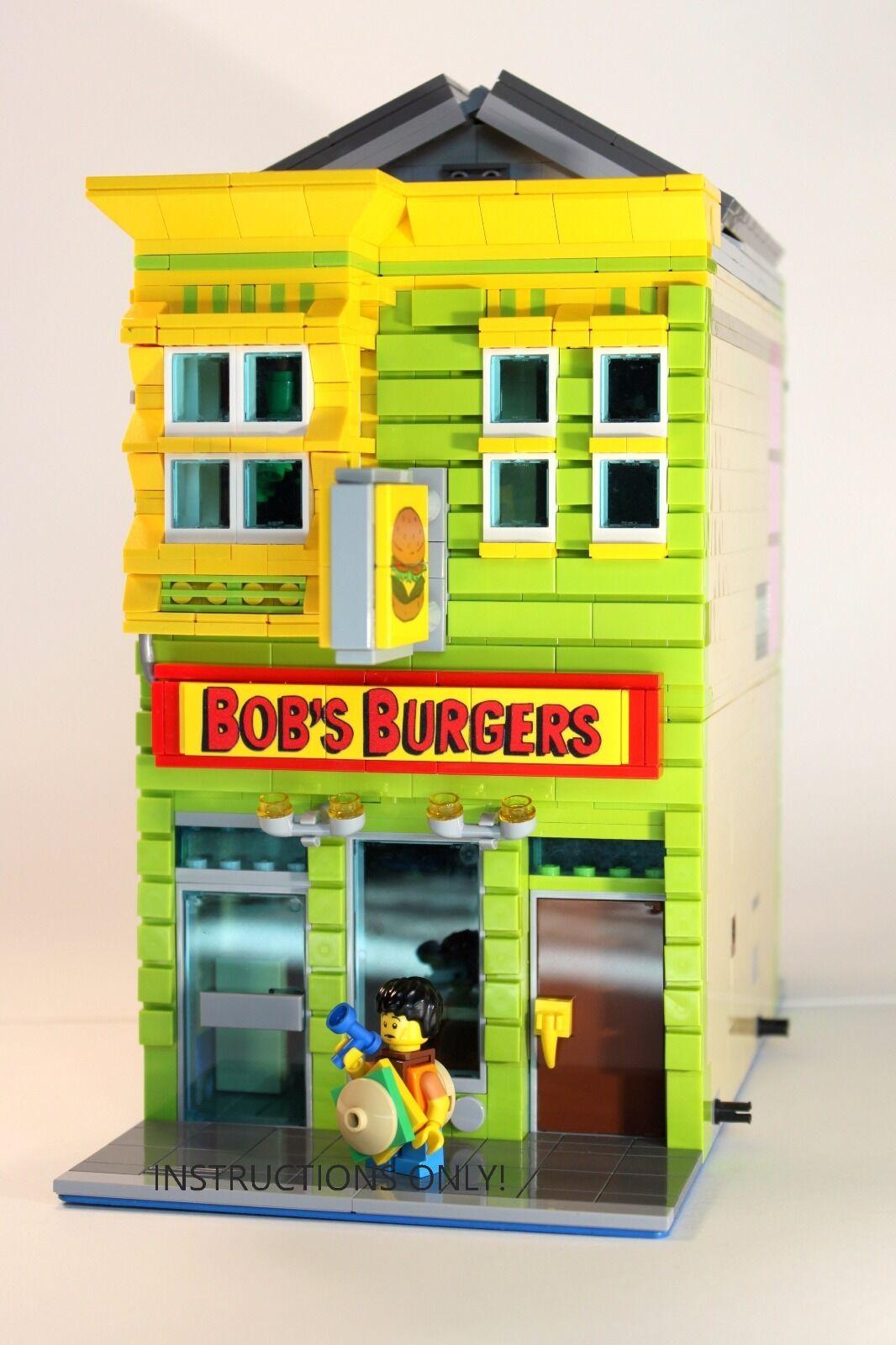 Lego Custom Modular Building Bobs Burgers Instructions Only Ebay