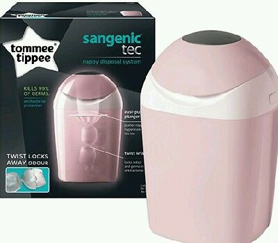 Tommee Tippee NEW! PINK Sangenic Baby Nappy Disposal System Bin Tub + 1 Cassette