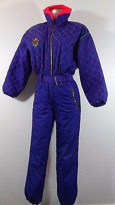Obermeyer women's winter snowboarding ski suit violet 6P
