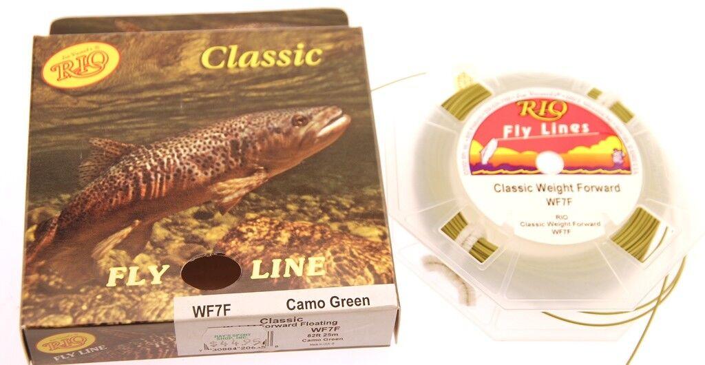Jim Vincent's RIO Classic Fly Fishing Line  WF-7-F Camo Green 82' NIB  deals sale