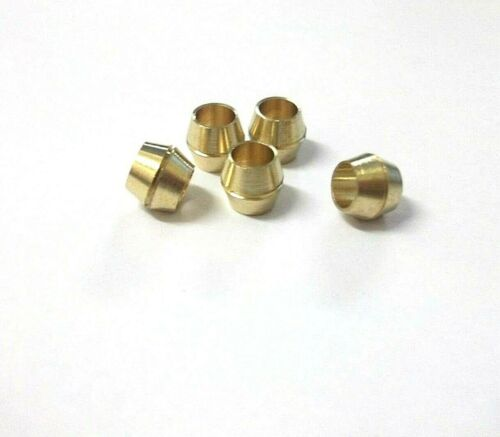 Pipe fitting Pack of 5 *Top Quality! Compression Brass Olives 1//8 Inches