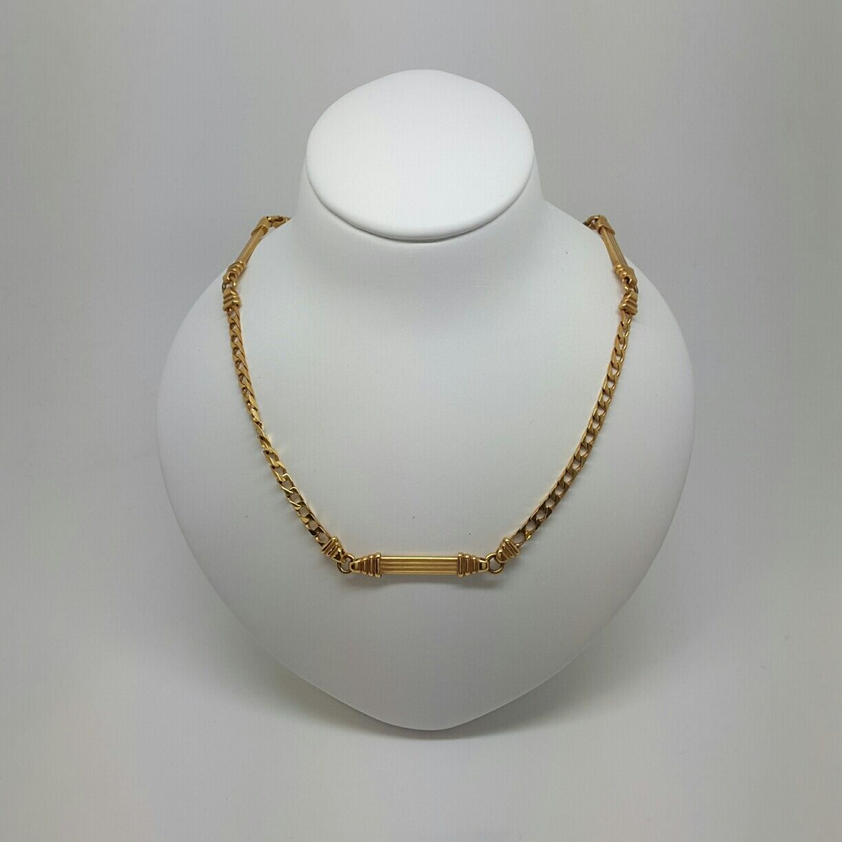 Miran 081048 Solid gold Chain 9ct Curb with Solid Bars 50cm 13.1g RRP  1200