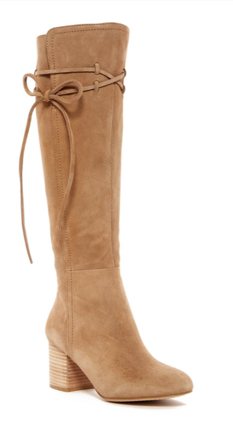Splendid Rime Women's Tan Suede Knee High Boot Sz 7.5 2942