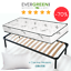 Network Iron Slatted Kit Ortho Single Mattress Aloe 20cm Pillow free!