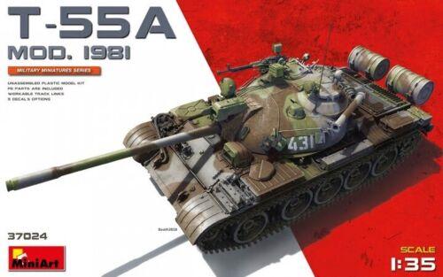 Miniart 37024 1:35th scale T-55A 1981 MOD Tank