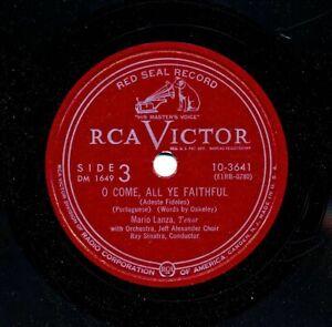 MARIO-LANZA-on-1951-RCA-Victor-10-3641-O-Come-All-Ye-Faithful