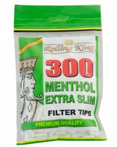 600-2-x-300-ROLLING-KING-MENTHOL-EXTRA-SLIM-Cigarette-Filter-Tips-Resealable