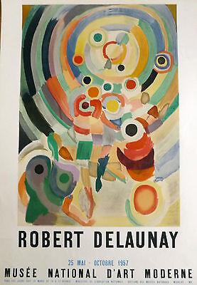 DELAUNAY ROBERT Affiche Imp. en Lithographie 1957 Musée National d'Art Moderne