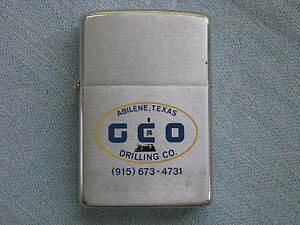 Zippo Lighter 1976 Advertising GCO Drilling Co. Abilene Texas