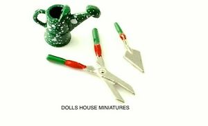 Gardening tools dolls house miniature garden accessory for Small garden tools set of 6