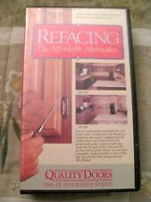 Refacing - The Affordable Alternative  Quality Doors VHS (DIY) NEW