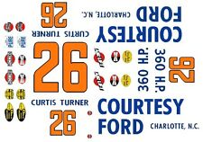 #41 Curtis Turner Old Dominion 1951-53 1//64th HO Scale Slot Car Waterslide Decal