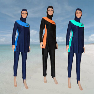 1f3be422ef3 Image is loading Full-Cover-Modest-Burkini-Swimwear-Swimsuit-Burqini-Muslim-