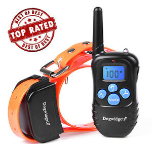 Dog-Training-Shock-Collar-And-Vibrate-And-Beep-Rechargeable-100-Levels-Dogwidget