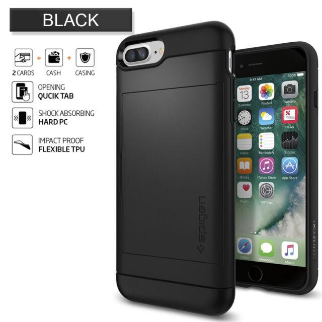 huge selection of f67ea 3caca Express iPhone 8 Plus Case Spigen Slim Armor CS Cover for Apple Black