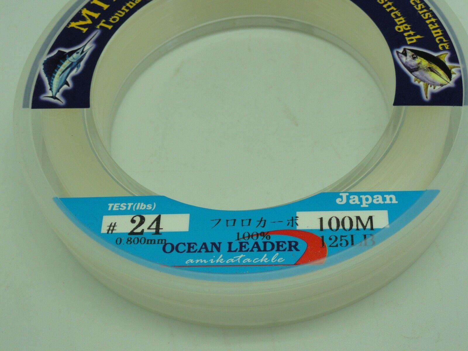 Amika Mirage Flugoldcarbon Leader Japan U.S 90 125lb 110yd Jigging BG Fishing