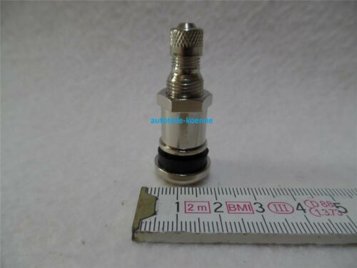 100x Metallventil 42 MS für Ventilloch Ø 11,3mm lange Mutter PKW