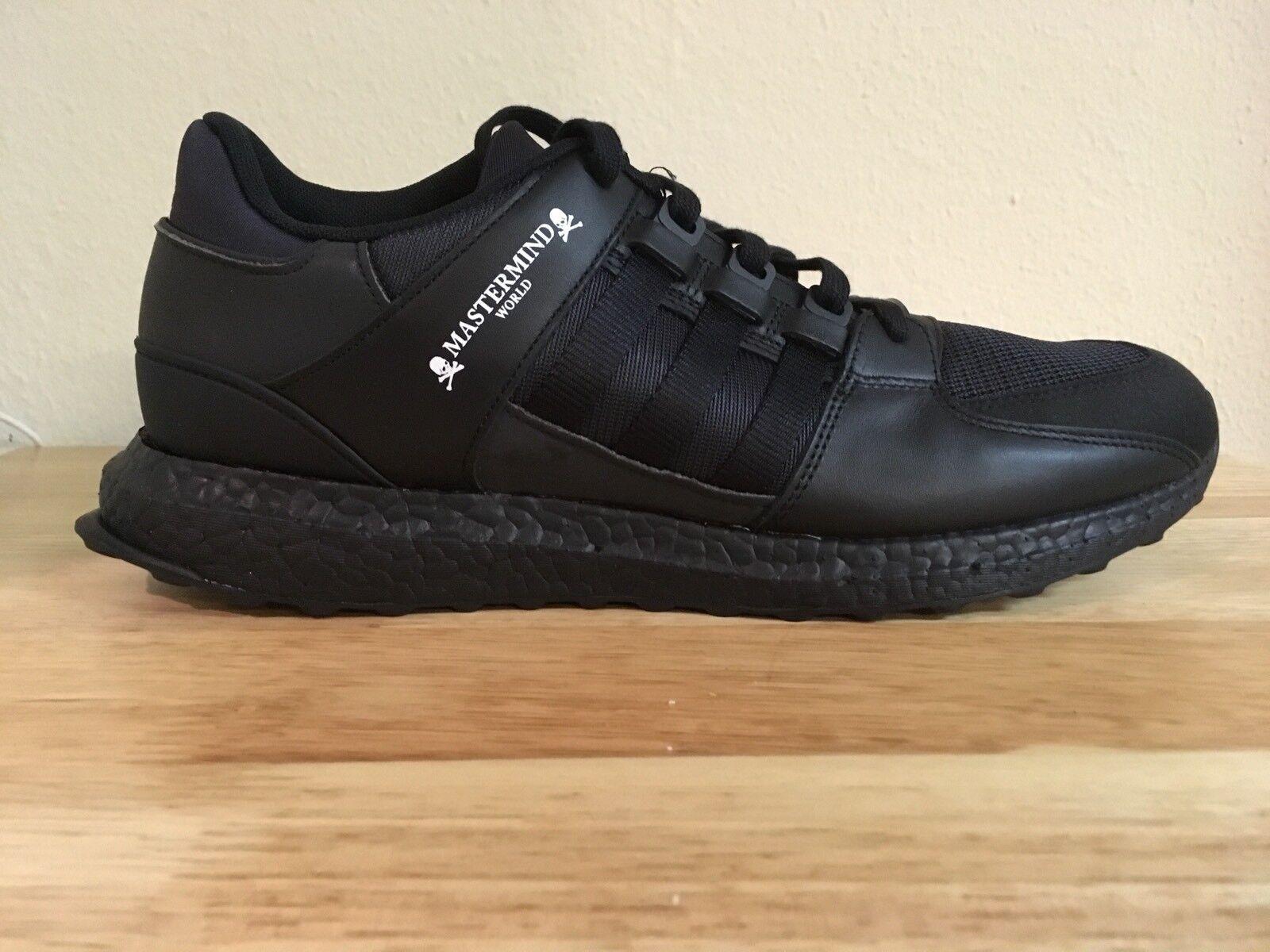 Custom Triple Black Adidas Mastermind World EQT Support Ultra US 11 CQ1826 Boost