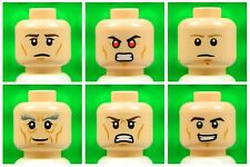 Lego Male Flesh HEADS [x6] for minifigures boy star wars super heroes NEW 6p5