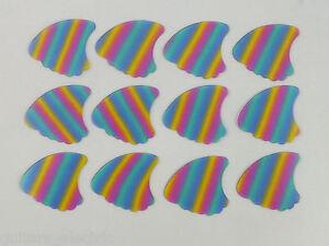 12 Aileron De Requin Médiators Transparent Rainbow En 3 Jauges Celluloïd Gagner Les éLoges Des Clients
