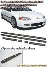 92-95 Civic 3dr Hatchback Thin Side Door Molding Moulding