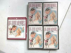 4 Cassette Tape Big Band Memories Set Readers Digest 1991 With Booklet