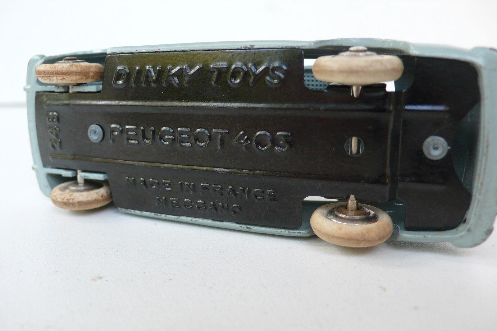 DINKY TOYS FRANCE FRANCE FRANCE  PEUGEOT BERLINE 403  REF 24B  1956/59   SÉRIE 24  BON  ÉTAT 6af609