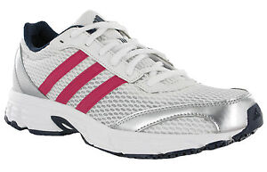 8f6ab875321 Adidas Vanquish 6 Womens White Pink Mesh Running Sports Trainers ...