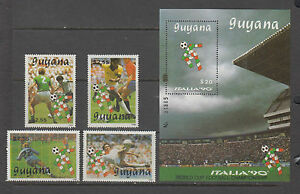 Guyana-Stamps-1990-World-Cup-Soccer-Championships-Complete-set-MNH