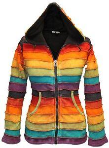 Fleece-Lined-Rainbow-Stripy-Hippie-Hoodie-Women-Festival-Winter-Goth-Cardigan