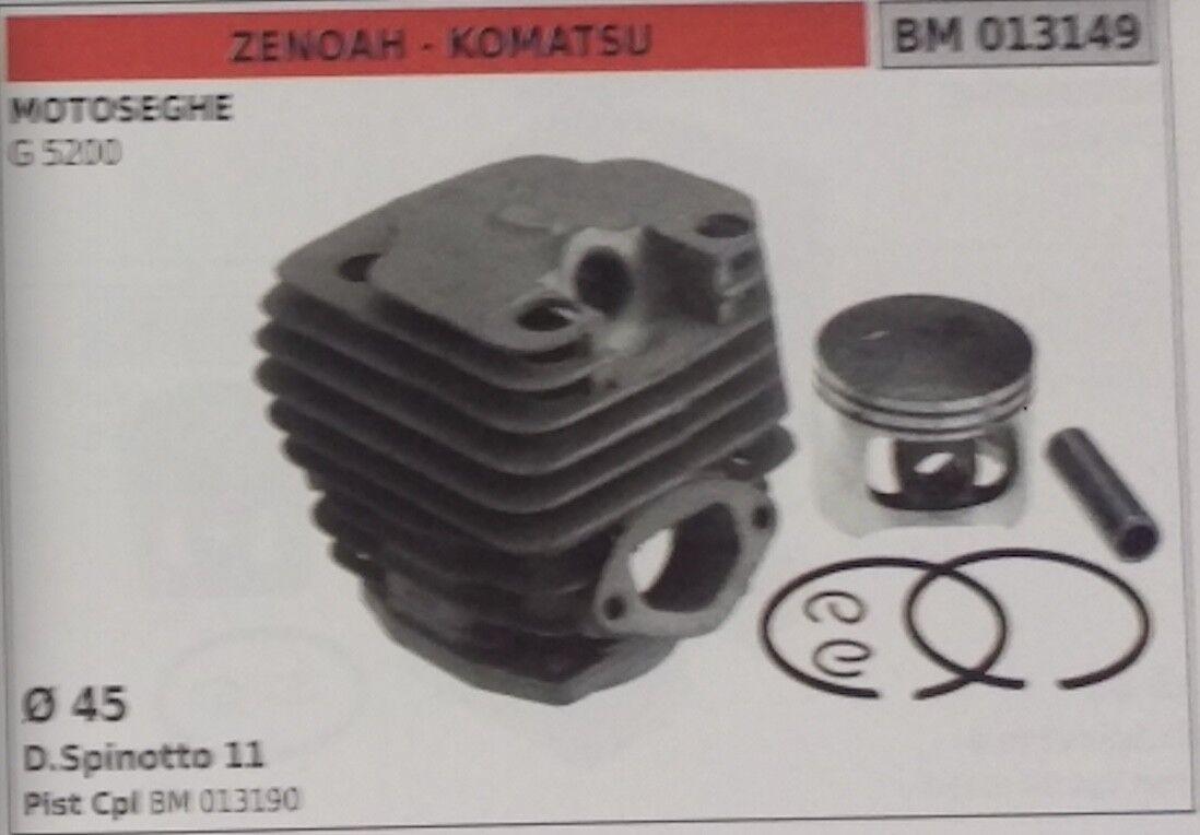 CILINDRO E PISTONE COMPLETO MOTOSEGA ZEONAH KOMATSUG 5200 Ø45