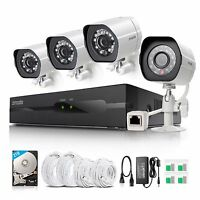 Zmodo 1080p HD sPoE 4CH NVR IP Network Outdoor Home Security Camera System with 2TB