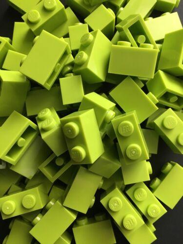 Lego New Bulk Lot of 50 1x2 Lime Green  Bricks Blocks 1 x 2 Building Brick