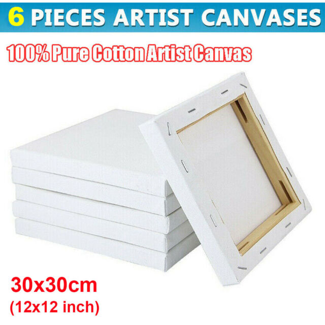 4 x 6 Inch 5 x 7 Inch 8 x 10 Inch 9 x 12 Inch 12 Pieces Mini Stretched Canvas Small Blank Square Canvas Plain Painting Canvas Frame for Craft Painting Drawing