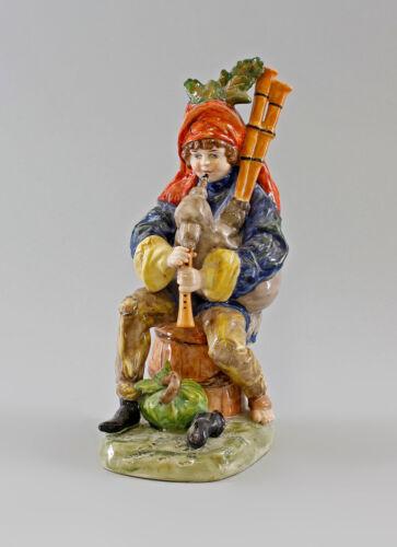 Porzellan-Figur Bettler-Musikant mit Dudelsack Ernst Bohne & Söhne H21cm 9997057