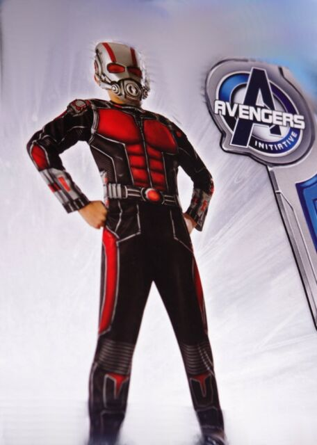 Boy/'s Size Medium 8-10 Marvel Ant-Man Halloween Costume Jumpsuit /& Mask New