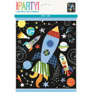 8-x-Outer-Space-Rockets-Loot-Bags-Boys-Birthday-Party-Supplies-Goody-Treat-Empty